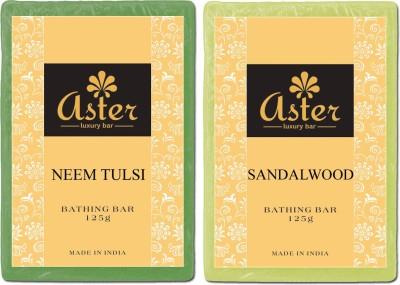 Aster Luxury Neem Tulsi Sandalwood Natural Soap Combo