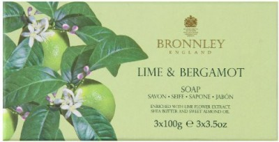Bronnley Lime and Bergamot Hand Soaps in Gift Box (3 pc) soap set by