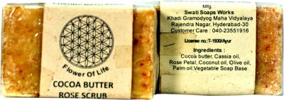 FLOWER OF LIFE COCOA BUTTER ROSE SCRUB SOAP