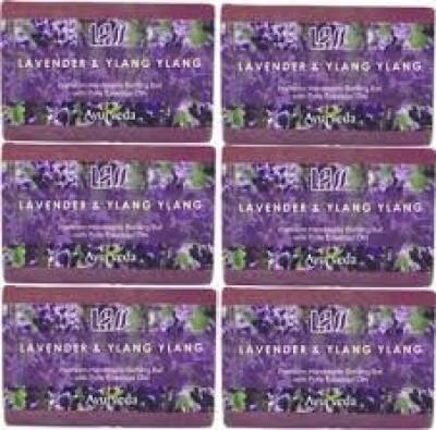 Lass Naturals Pack of 12 Lass Naturals LASS LAVENDER & YLANG YLANG SOAPS
