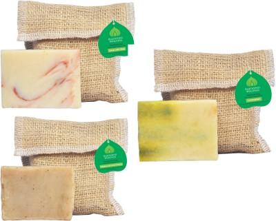 Blackseed Wellness Feel good combo pack of 3 Handmade Soap : Lotus with Shea, Lemongrass and Shampoo Bar : Shekakai with Amla Reetha