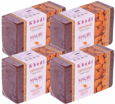 Khadimauri Almond Soap - Pack of 4 - Premium Handcrafted Herbal