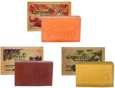 Greenviv Floral Bath Soap Combo