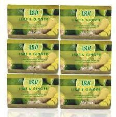Lass Naturals Pack of 12 Lass Naturals LASS GINGER & LIME Soaps