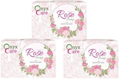 Onyx Care Glycerin Rose Soap (Set of 3)