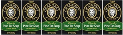 Grandpa's Pine Tar Soap Bar (6 Pack)