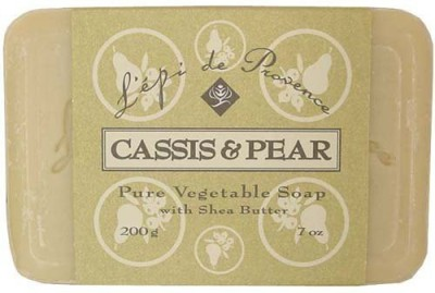 L,Epi de Provence L,epi de Provence Triple Milled Cassis & Pear Shea Butter Vegetable Soaps from France