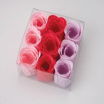 US Toy Lot Of 9 Rose Bud Shaped Soap Set