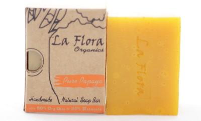 La Flora Organics Pure Papaya complexion handmade soap bar