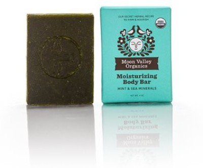 Moon Valley Organics Soap Mint & Sea Mineral Body Bar All Natural By