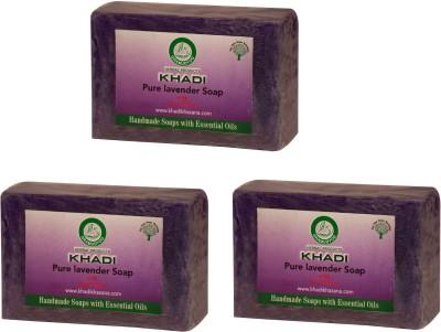 Khadi Herbal NaturalPure Lavender Soap - pack of 3