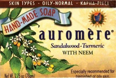 Auromere Sandal Turmeric Soap Ayurvedic Products Bar Soap