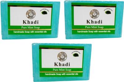 Khadi Herbal NaturalPure Mint Soap Pack Of 3