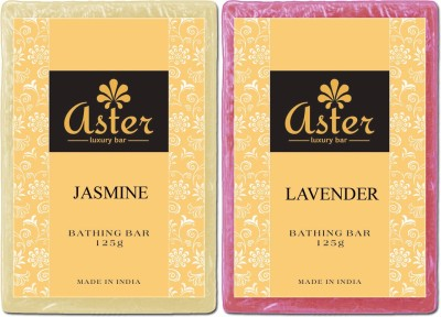 Aster Luxury Jasmine Lavender Natural Soap Combo