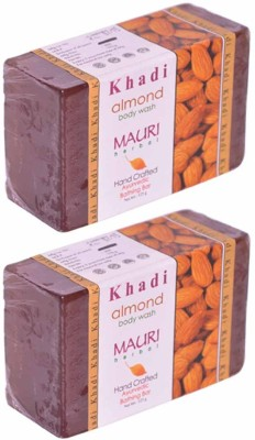 Khadimauri Almond Soap - Pack of 2 - Premium Handcafted Herbal