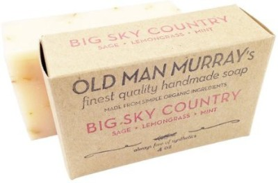 Old Man Murray's Big Sky Country All-Natural Soap (2 Bars) - Sage Lemongrass Mint - Handmade w/ Simple Organic Ingredients - No Parabens Alcohol Petroleum Artificial Dyes or Fragrances