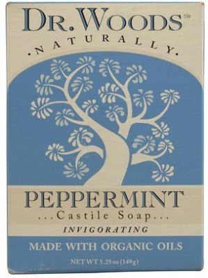 Dr. Woods Castile Bar Soap Peppermint