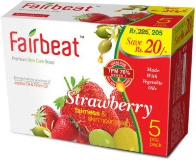 Fairbeat Strawberry Soap- Enriched With Jojoba&Olive Oil