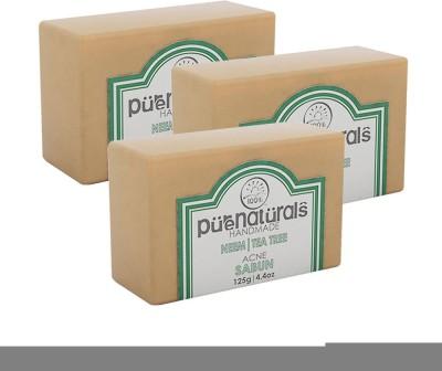 Purenaturals Acne Soap Neem | Tea Tree - 125g (Set of 3)