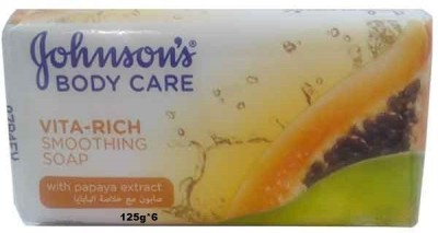 Johnsons Body Care Vita Rich Smoothing Soap With Papaya Extract ( Pack of 6)