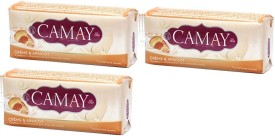 Camay Creme and Apricot Beauty Soap ( Pack of 3)