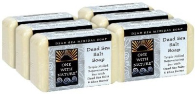 One With Nature Dead Sea Mineral Soap Dead Sea Salt (Pack of 6)