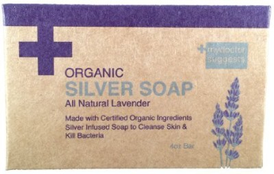 My Doctor Suggests Organic Silver Soap - All Natural Lavender: Made with Certified Organic Ingredients. Silver Infused Soap to Cleanse Skin & Kill Bacteria