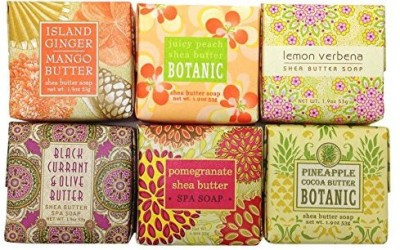 Greenwich Bay Trading Company Tropical Fruit French Milled Shea Butter Soap Sampler Gift Set
