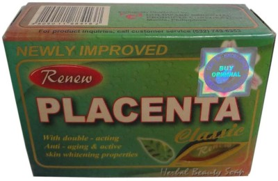 Renew Placenta Herbal Beauty Whitening Soap For Younger Look,1pc 1P