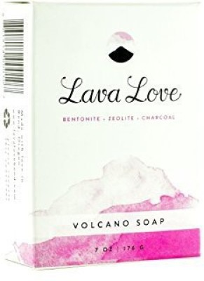 Lava Love Volcano Vegan Soap Made with Volcanic Ash (Bentonite Zeolite Pumice) From Oregon and Shea Butter Bar