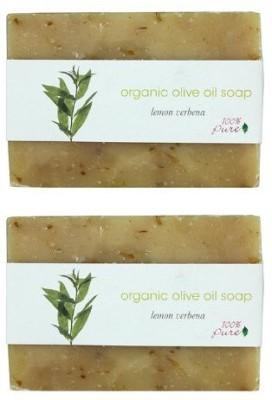 100% Pure Organic Olive Oil Soap Lemon Verbena 2 Pack