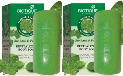 Biotique Basil and Parsley Revitalizing Body Soap ( Set Of 2)