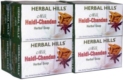 Herbal Hills Milk Chandan Turmeric Soap, 100 g (Pack of 8)