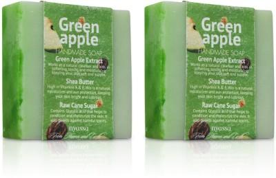 Nyassa Green Apple Handmade Sugar Soap Pack Of 2
