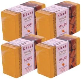 Khadi Mauri Sandal Soap - Pack of 4 - Premium Handcrafted Herbal