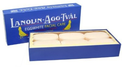 Victoria's Secret Lanolin-Agg-Tval Swedish Eggwhite Soap - 1 Box of 6 bars