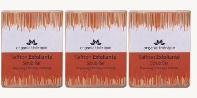 Sattvik Saffron Exfoliante Scrub Bar Pack Of 3
