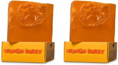 Nyassa Orange Burst Handmade Loofah Soap Pack Of 2