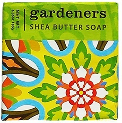 Greenwich Bay Trading Company French Milled Exfoliating GARDENERS SHEA BUTTER Bar Bath Soap | Shea Butter Clove Oil Orange Oil Exfoliating Apricot Seed Organic Oat Flour Captivating Botanical Spa Soap (1 Pack)