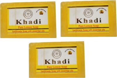 Khadi Herbal NaturalPure Lemon Soap Pack Of 3