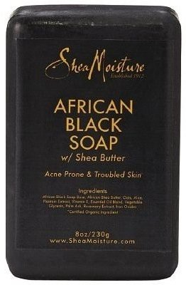 Shea Moisture African Black Soap Bar Soap (Pack of 4)