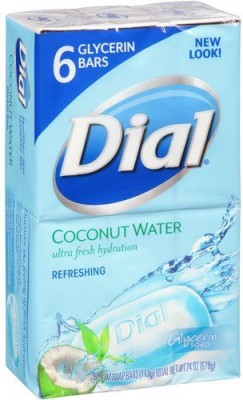 Dial Coconut Water Ultra Fresh Hydration Glycerin Soap 2 Pack Total of 12 Bars
