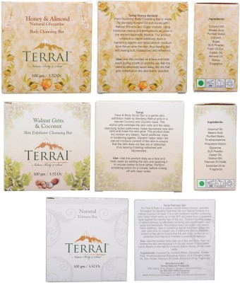 Terrai Natural Products 3 Pc. Body Cleanser Set