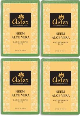 Aster Luxury Neem Aloe vera Bathing Bar - Pack of 4