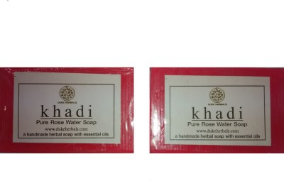 Dukeherbals Khadi Rosewater Soap -Pack Of 2