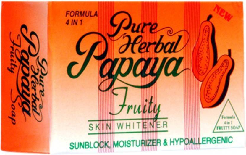 Pure Papaya Herbal Fruity 4 IN 1 Skin Whitening/Skin Fairness Soap(135 g)