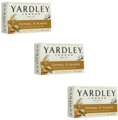 Yarley of London Oatmeal and Almond Bar Soap Set of 3