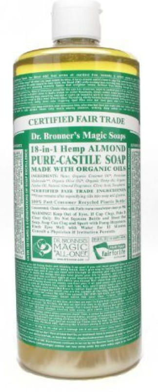 Dr. Bronners Magic Soaps Pure - Castile Soap 18 - In - 1 Hemp Almond(907 g)