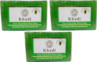 Khadi Herbal NaturalPure Glycerine Khus Soap Pack Of 3