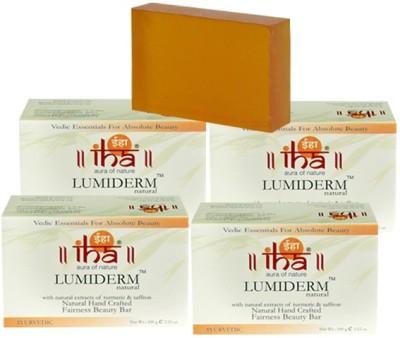 Iha Ayurvedic Fairness LUMIDERM Soap - Pack of 4 - Premium Herbal